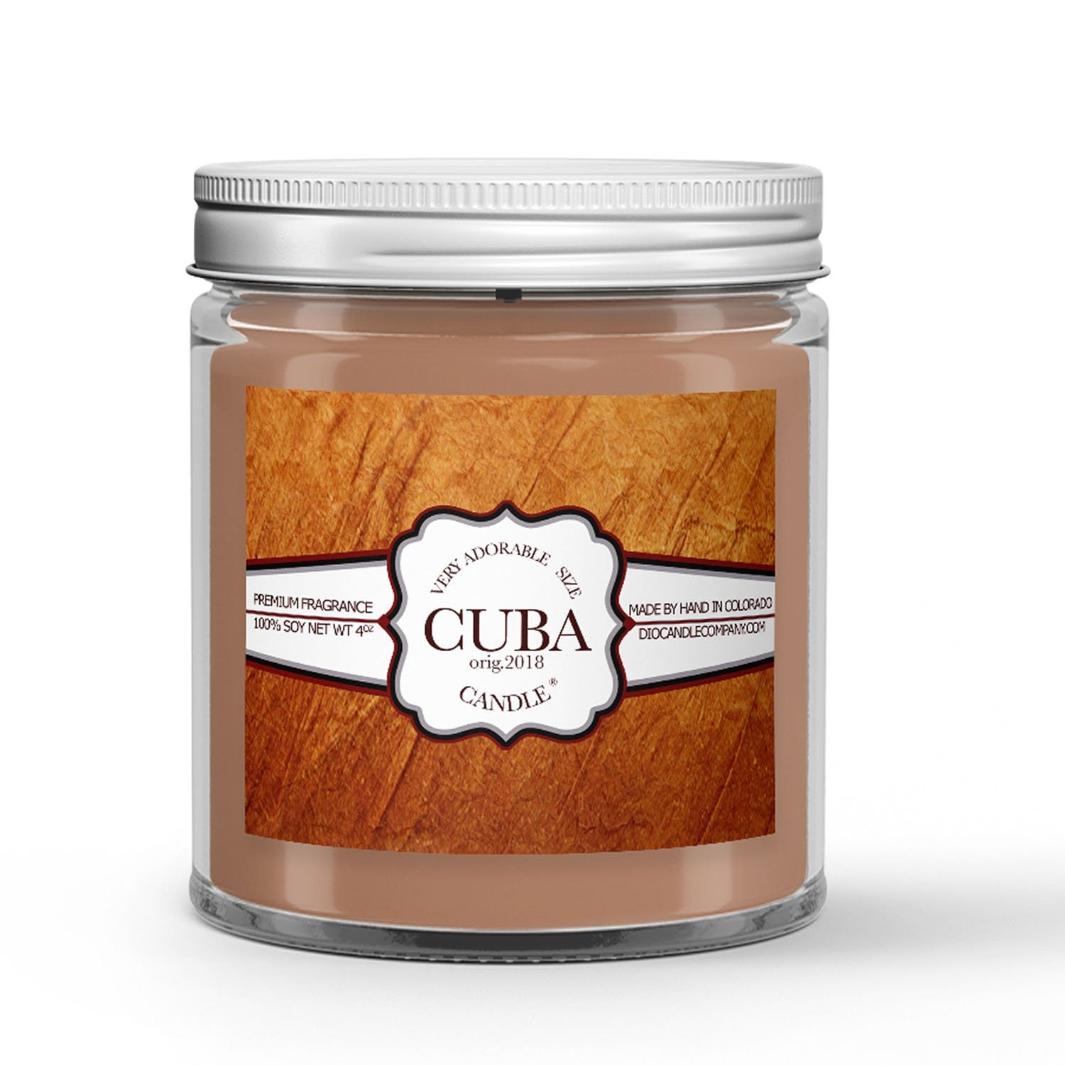 Cuban Tobacco Candle - Cuban Tobacco - Humidor - Cherry - Clove - 4oz Very Adorable Size Candle® - Dio Candle Company
