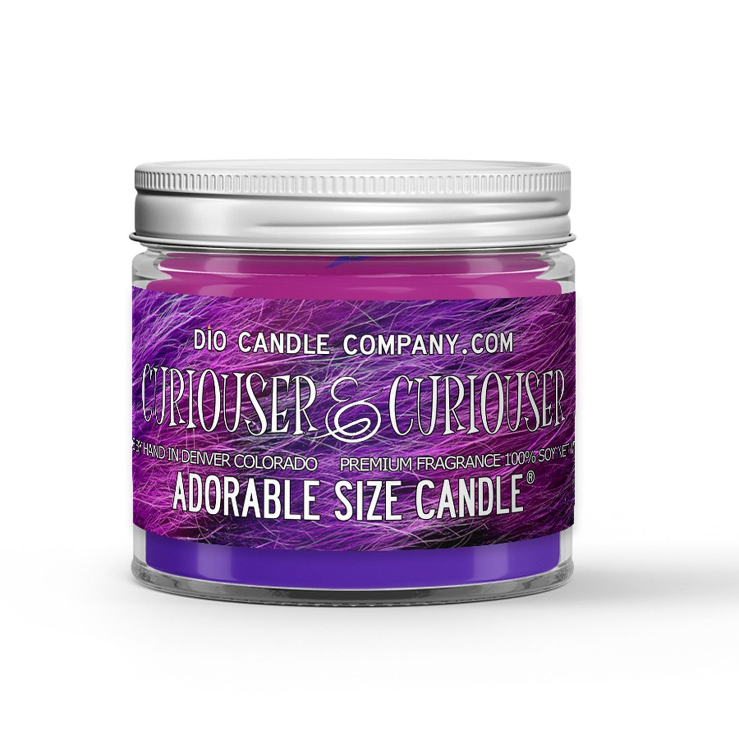 Curiouser & Curiouser Candle - Smokey Woods - Fresh Cucumber - 1oz Adorable Size Candle® - Dio Candle Company