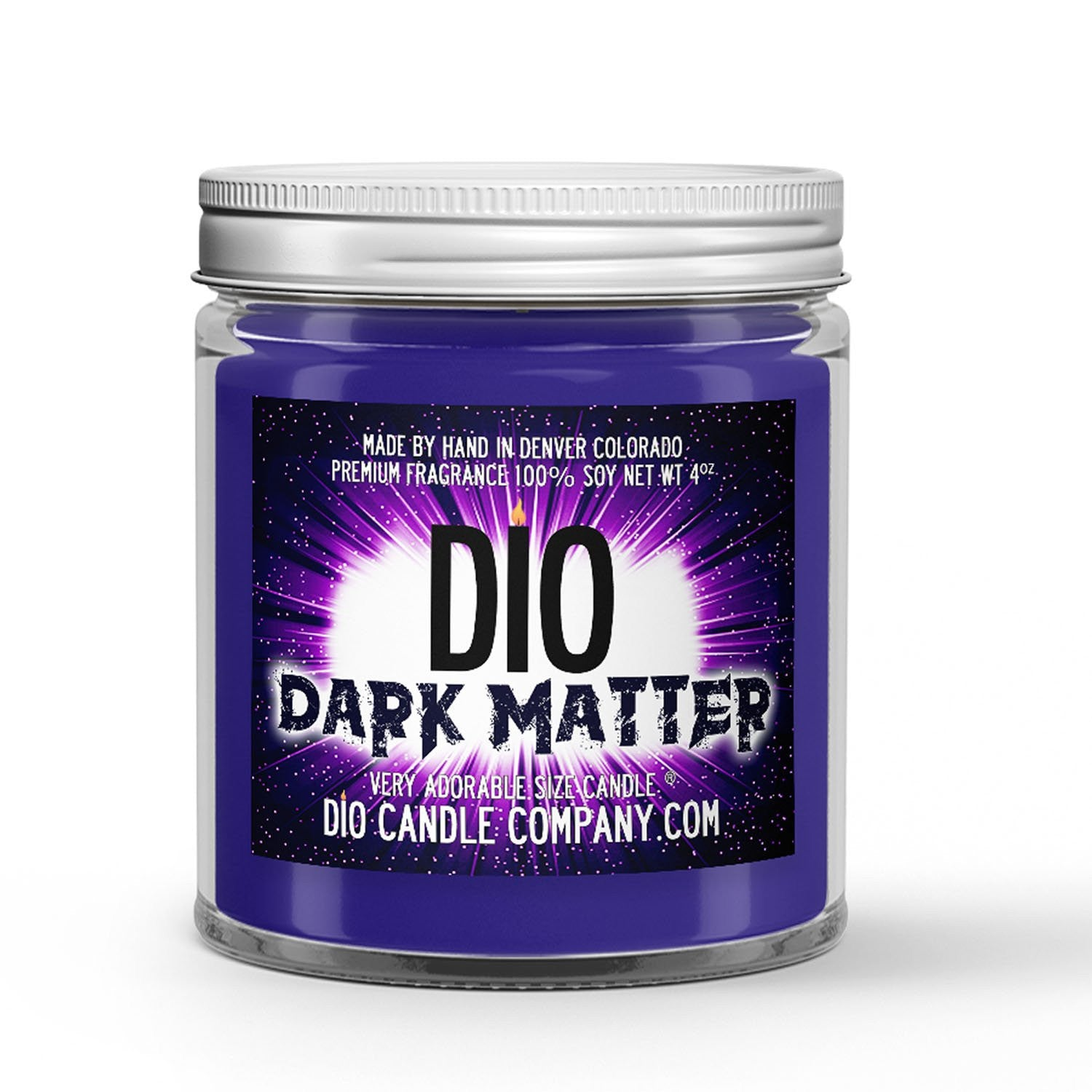 Dark Matter Candle - Jasmine - Cedar Wood - Moss - 4oz Very Adorable Size Candle® - Dio Candle Company