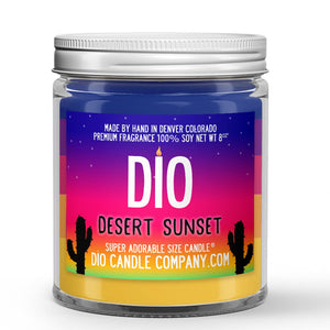 Desert Sunset Candle - Cactus Flower - Sandy Mist - 8oz Super Adorable Size Candle® - Dio Candle Company