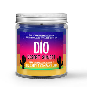 Desert Sunset Candle - Cactus Flower - Sandy Mist - 4oz Very Adorable Size Candle® - Dio Candle Company