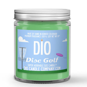 Disc Golf Candle Grass - Dirt - Wind Scented - Dio Candle Company