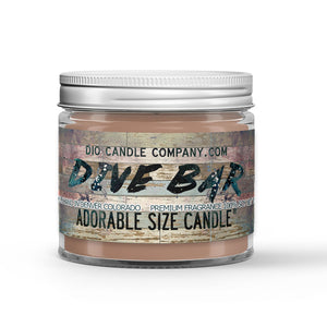 Peach Bourbon - Bar Stools Scented - Dive Bar Candle - 1 oz - Dio Candle Company