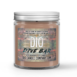 Peach Bourbon - Bar Stools Scented - Dive Bar Candle - 4 oz - Dio Candle Company