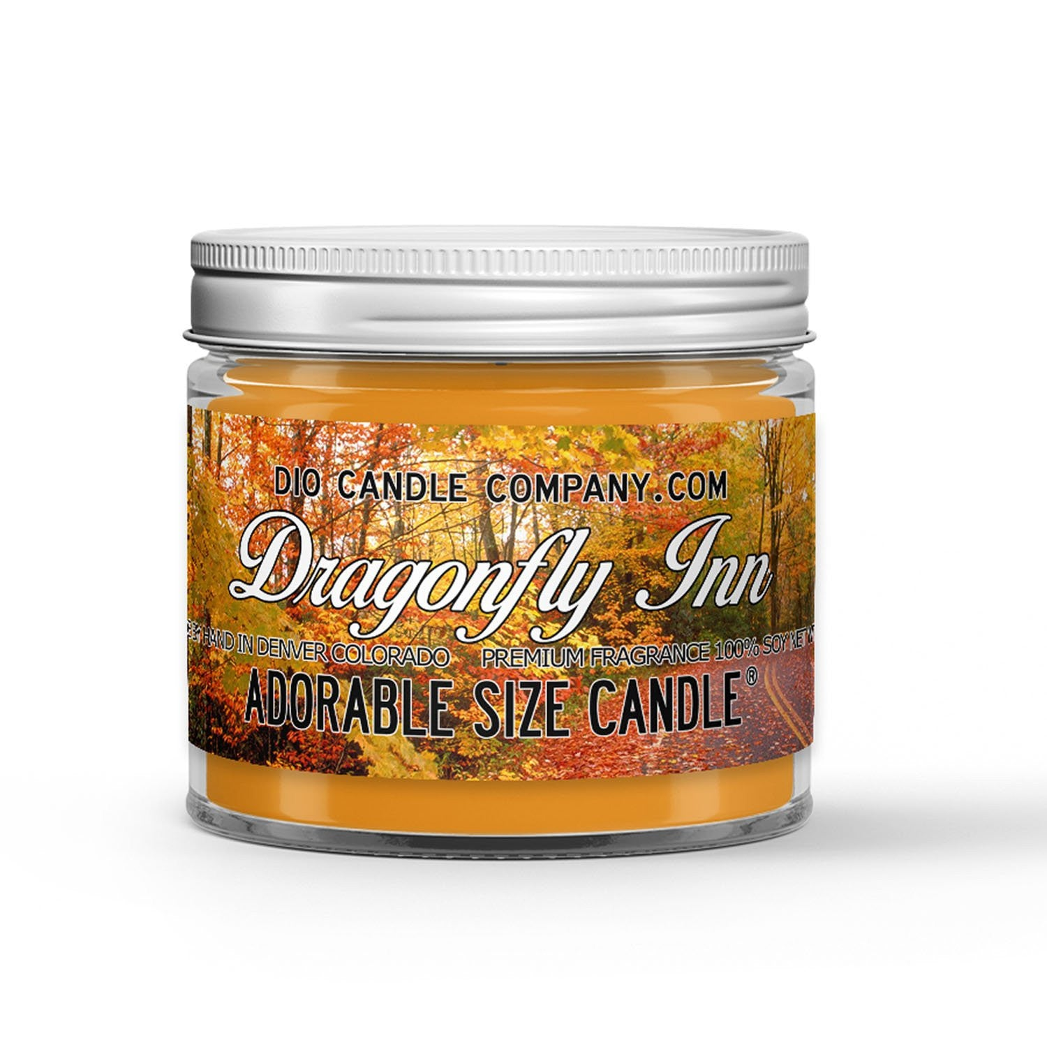 Dragonfly Inn Candle - Apples - Cinnamon - Fresh Baked Pies - 1oz Adorable Size Candle® - Dio Candle Company