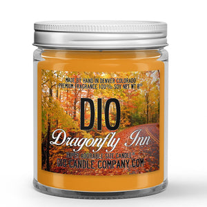 Dragonfly Inn Candle - Apples - Cinnamon - Fresh Baked Pies - 8oz Super Adorable Size Candle® - Dio Candle Company