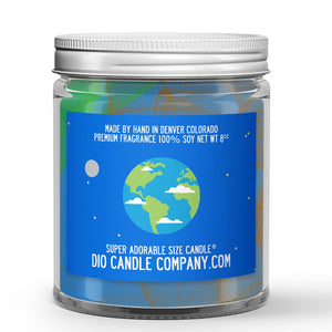 Planet Earth Candle - Soil - 8oz Super Adorable Size Candle® - Dio Candle Company