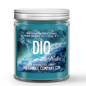Edge of the Water Candle - Tropical Fruit - Fresh Ocean Breeze - 8oz Super Adorable Size Candle® - Dio Candle Company