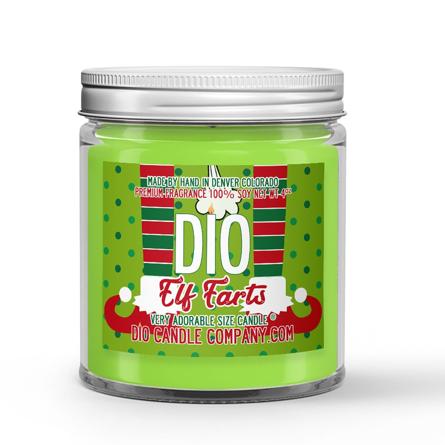 Elf Farts Candle Christmas Sugar Cookies Scented - Dio Candle Company