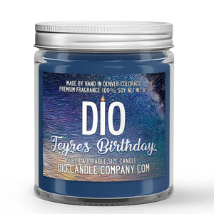 Feyre's Birthday Candle - Sidra River - Orange Blossom - 8oz Super Adorable Size Candle® - Dio Candle Company