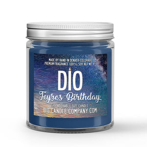 Feyre's Birthday Candle - Sidra River - Orange Blossom - 4oz Very Adorable Size Candle® - Dio Candle Company