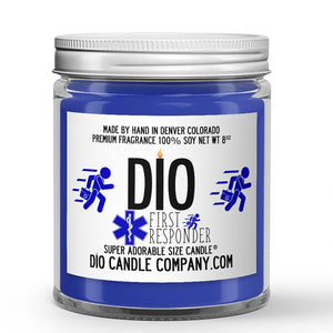 First Responder Candle Clean Aloe - White Tea - Clover Scented - Dio Candle Company