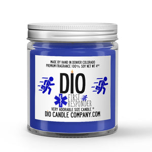 First Responder Candle Aloe - White Tea - Clover Scented - Dio Candle Company