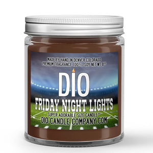 Friday Night Lights Candle - Grass Field - Night Air - 8oz Super Adorable Size Candle® - Dio Candle Company