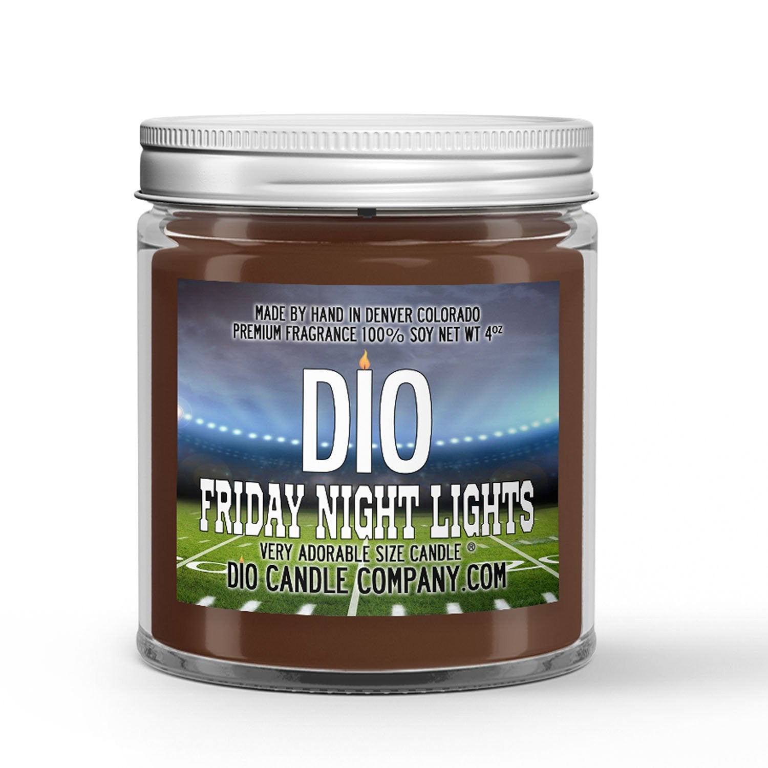 Friday Night Lights Candle - Grass Field - Night Air - 4oz Very Adorable Size Candle® - Dio Candle Company