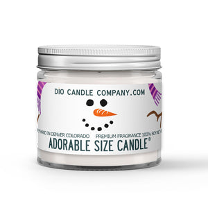 Frosty the Snowman Candle - Snow - Mint - Vanilla - 1oz Adorable Size Candle® - Dio Candle Company
