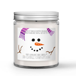 Frosty the Snowman Candle Snow - Mint - Vanilla Scented - Dio Candle Company