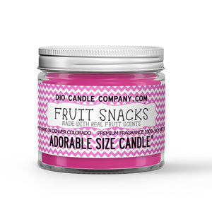 Fruit Snacks Candle - Strawberry Banana - Peach Raspberry - 1oz Adorable Size Candle® - Dio Candle Company