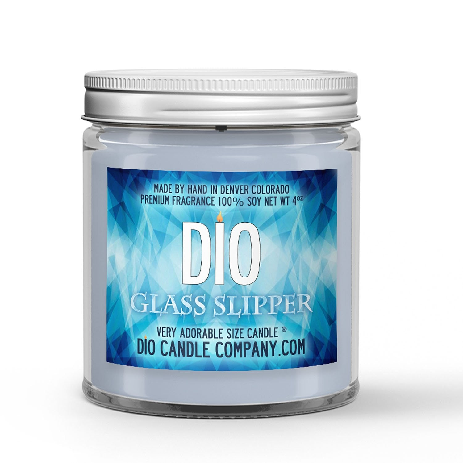 Glass Slipper Candle Peach - Violet - Rose Scented - Dio Candle Company