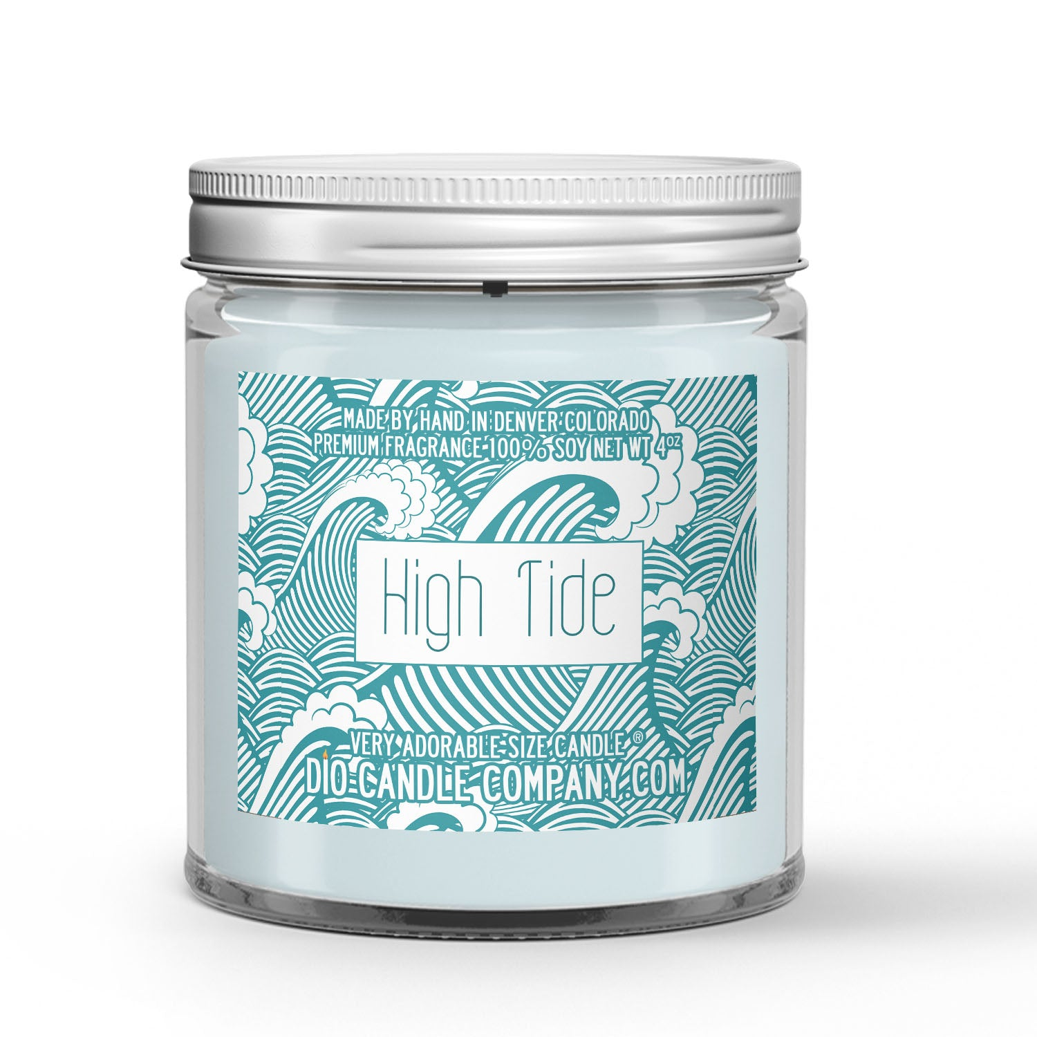 High Tide Candle Ozone - Sea Salt - Musk Scented - Dio Candle Company