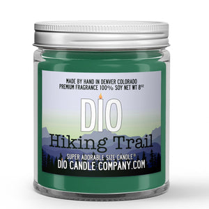 Hiking Trail Candle Dry Dirt - Wildflowers - Tree Bark Scented - Dio Candle Company