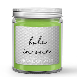 Hole in One Golf Candle Fresh Air - Green Grass - Wind Scented - Dio Candle Company