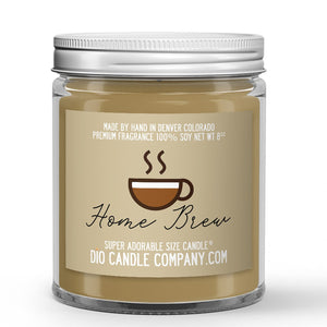 Home Brew Coffee Candle - Caramel Chocolate Coffee - 8oz Super Adorable Size Candle® - Dio Candle Company