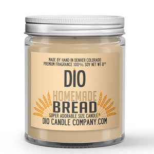 Freshly Baked Crusty Loaf Scented - Homemade Bread Candle - 8 oz - Dio Candle Company