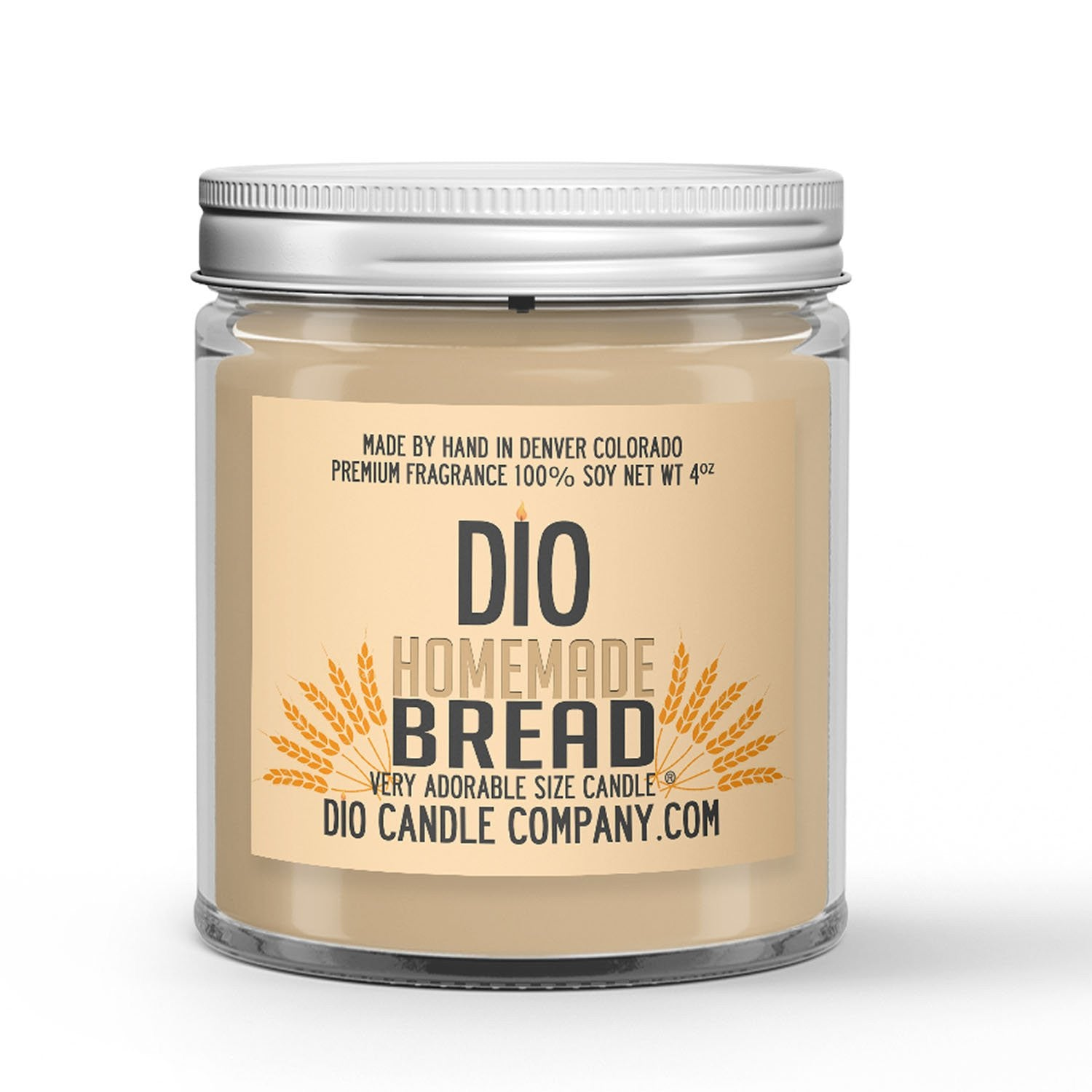 Freshly Baked Crusty Loaf Scented - Homemade Bread Candle - 4 oz - Dio Candle Company
