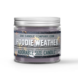 Hoodie Weather Candle - Heather Sweatshirt - Chilly Autumn Air - 1oz Adorable Size Candle® - Dio Candle Company