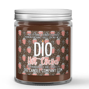Hot Cocoa Candle Chocolate - Milk - Marshmallow Scented - Dio Candle Company