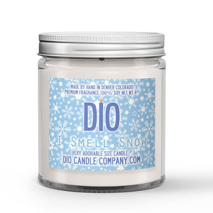 I Smell Snow Candle - First Snowfall - Frosted Grass - 4oz Very Adorable Size Candle® - Dio Candle Company