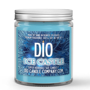 Ice Castle Candle - Snow - Ice - Spiced Carrot - 8oz Super Adorable Size Candle® - Dio Candle Company