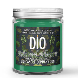 Island Heart Candle Papaya - Mango - Coconut Scented - Dio Candle Company