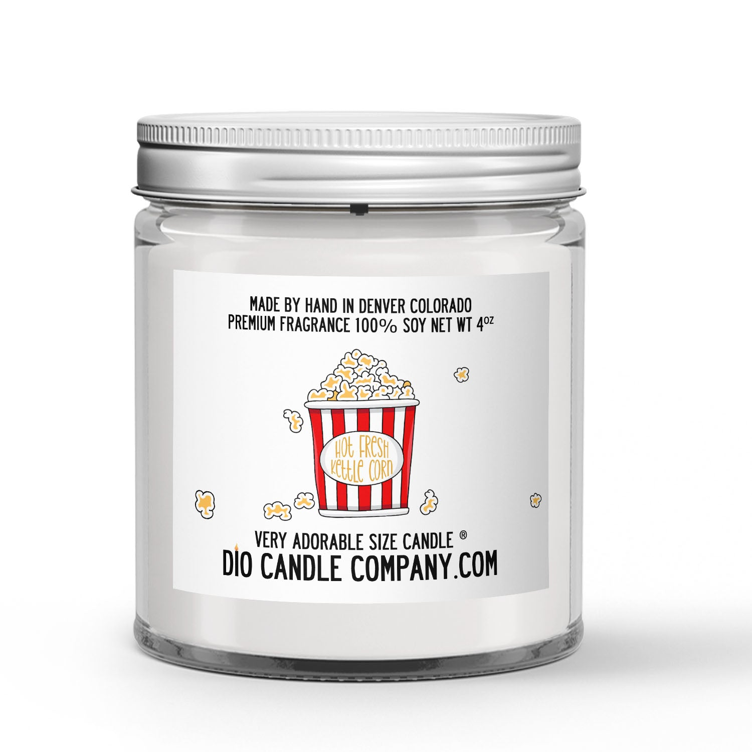 Kettle Corn Candle Sweet Salty Popcorn Scented - Dio Candle Company