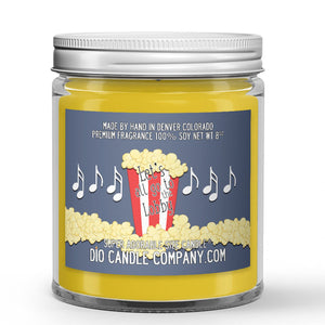 Vanilla - Popcorn - Caramel Scented - Let's All Go the Lobby Movie Candle - 8 oz - Dio Candle Company