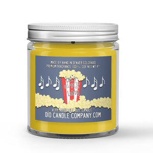 Vanilla - Popcorn - Caramel Scented - Let's All Go the Lobby Movie Candle - 4 oz - Dio Candle Company