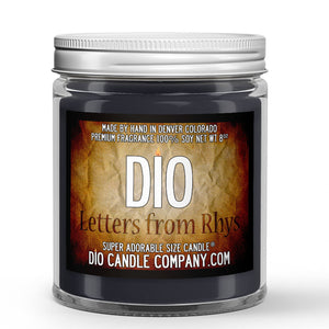 Letters From Rhys Candle Parchment - Jasmine - Citrus Scented - Dio Candle Company