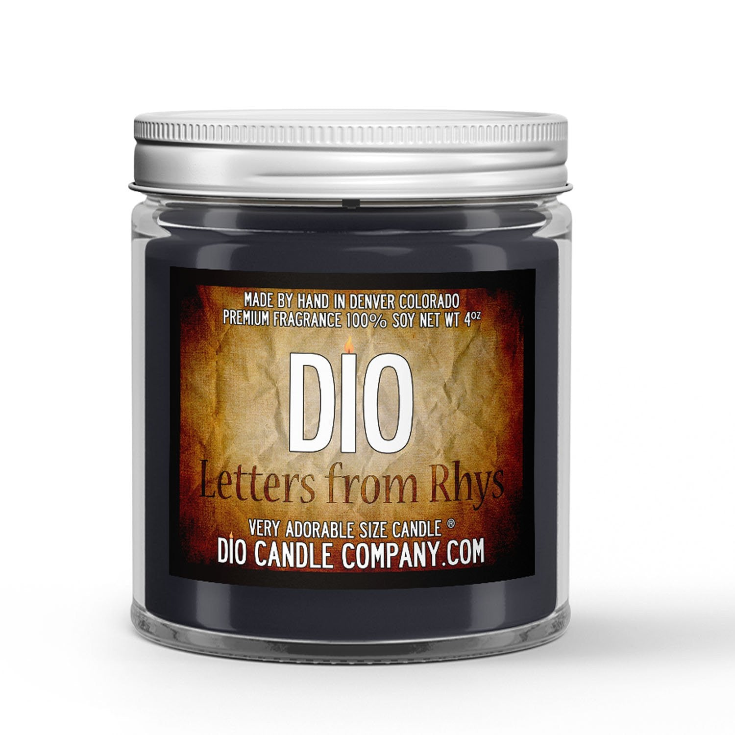 Letters From Rhys Candle - Parchment - Jasmine - Citrus - 4oz Very Adorable Size Candle® - Dio Candle Company