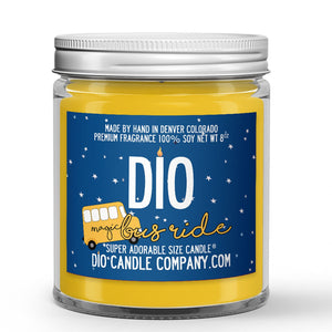 Lemon - Cream Scented - Magic Bus Candle - 8 oz - Dio Candle Company