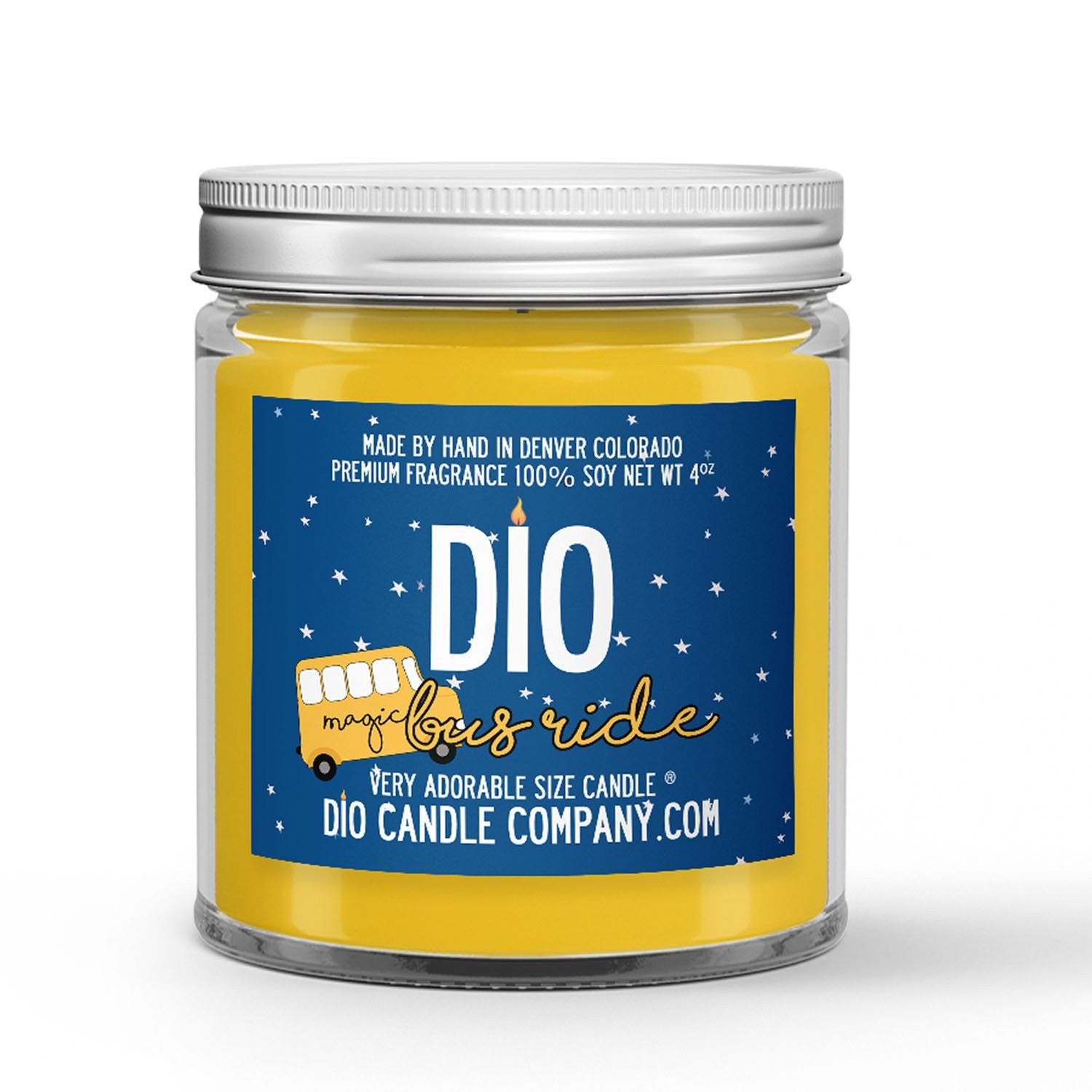 Magic Bus Candle - Lemon - Cream - 4oz Very Adorable Size Candle® - Dio Candle Company