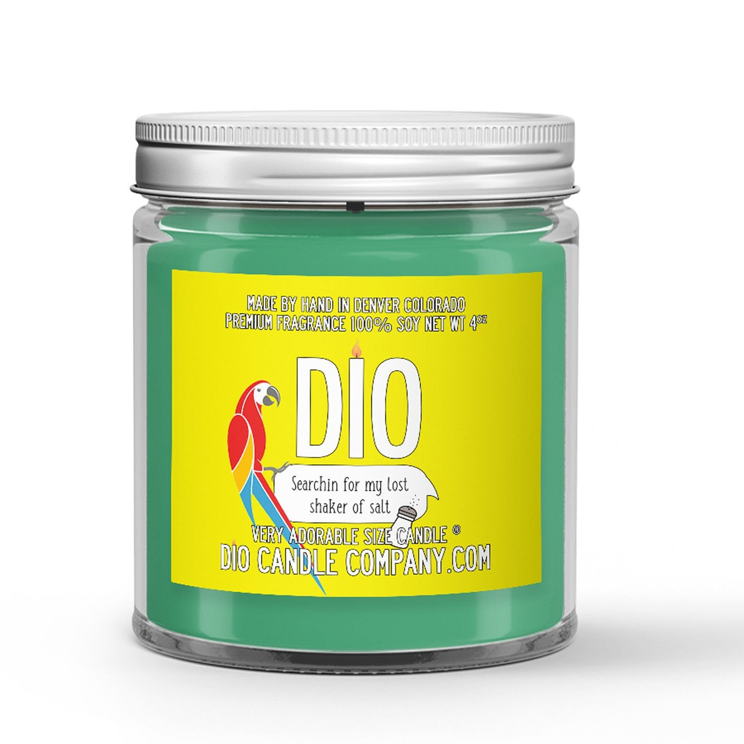 Lost Shaker of Salt Candle - Lime - Salt - 4oz Very Adorable Size Candle® - Dio Candle Company