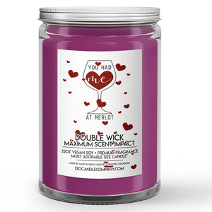 You Had Me At Merlot Candle Merlot Red Wine Scented - Dio Candle Company