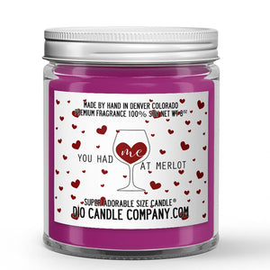You Had Me At Merlot Candle - Merlot Red Wine - 8oz Super Adorable Size Candle® - Dio Candle Company