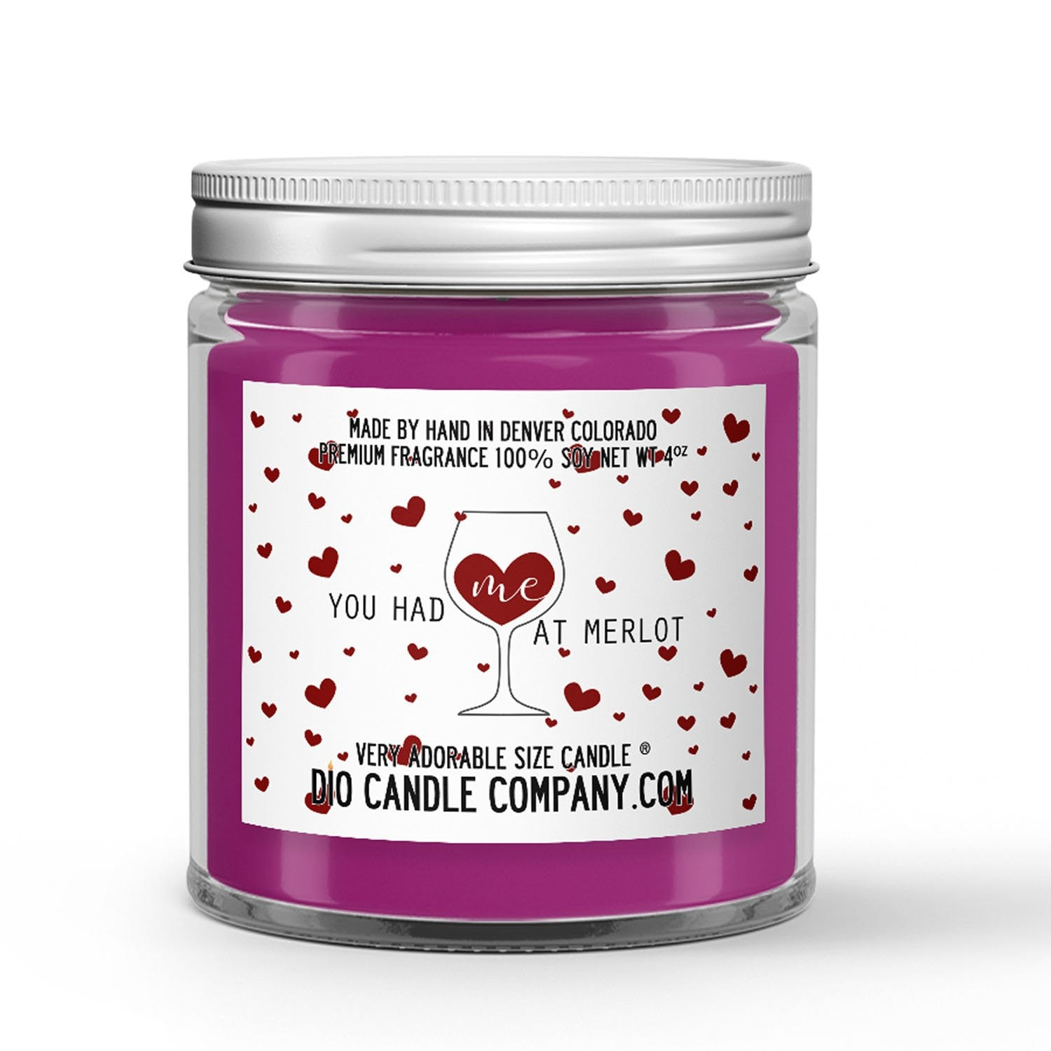 You Had Me At Merlot Candle - Merlot Red Wine - 4oz Very Adorable Size Candle® - Dio Candle Company