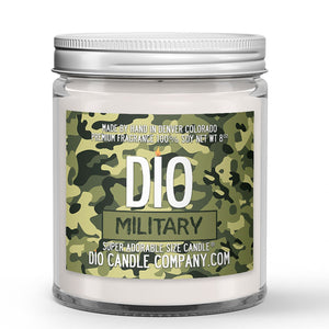 Personalized Military Candle - Vanilla Macadamia Nut Coffee - 8oz Super Adorable Size Candle® - Dio Candle Company