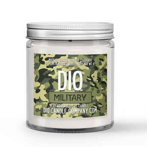 Personalized Military Candle - Vanilla Macadamia Nut Coffee - 4oz Very Adorable Size Candle® - Dio Candle Company