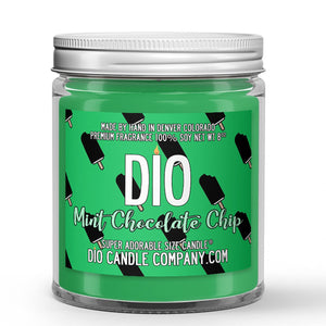 Mint Chocolate Chip Ice Cream Candle - Ice Cream - Mint - Chocolate - 8oz Super Adorable Size Candle® - Dio Candle Company