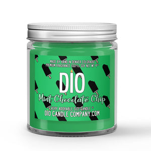 Mint Chocolate Chip Ice Cream Candle - Ice Cream - Mint - Chocolate - 4oz Very Adorable Size Candle® - Dio Candle Company