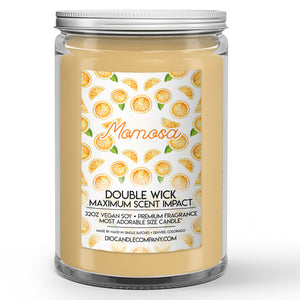 Momosa Mother's Day Candle Champagne - Orange Juice Scented - Dio Candle Company